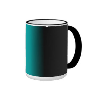 Black Teal White Ombre Coffee Mug