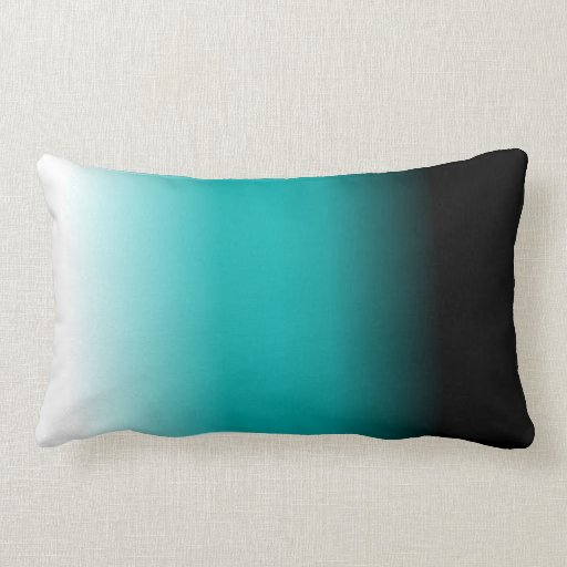Teal And Black Decorative Pillows : Black Teal White Ombre Throw Pillows Zazzle