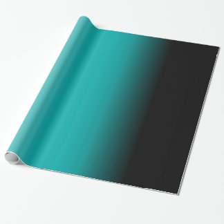 Black Teal White Ombre Wrapping Paper