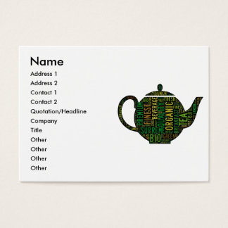 Black Teapot text design Business Card