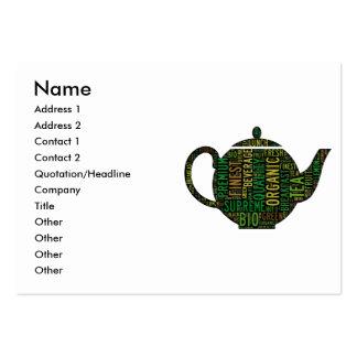 Black Teapot text design Large Business Card