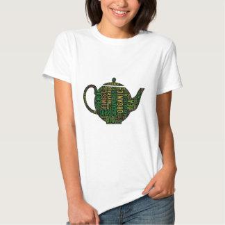 Black Teapot text design T-shirt