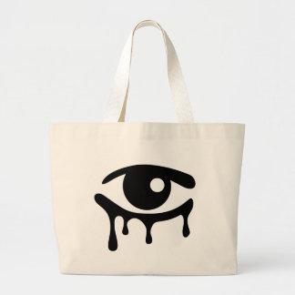 Black Tears Jumbo Tote Bag
