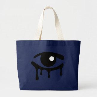 Black Tears on Navy Jumbo Tote Bag