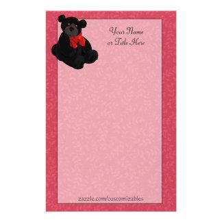 Black Teddy Bear Stationery