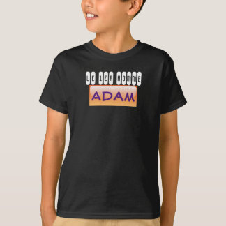 black tee-shirt Adam T-Shirt