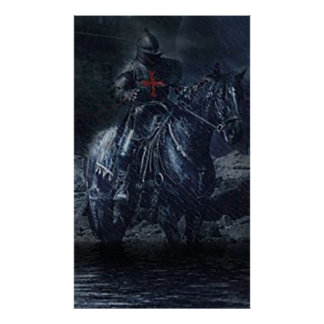 Black temple knight poster