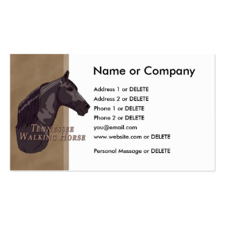 Black Tennessee Walking Horse Personal Double-Sided Standard Business Cards (Pack Of 100)