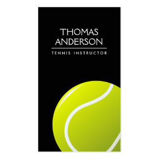 Black tennis coach / instructor / player Double-Sided standard business cards (Pack of 100)