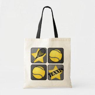 Black Tennis Tote Bag