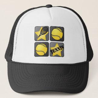 Black Tennis Trucker Hat