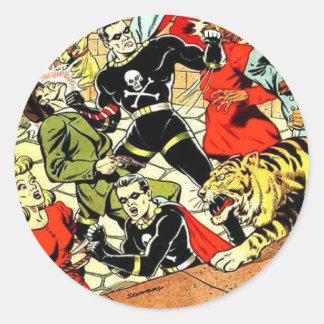 Black Terror #2 Classic Round Sticker