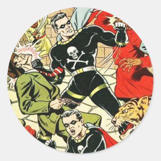 Black Terror Comic Classic Round Sticker