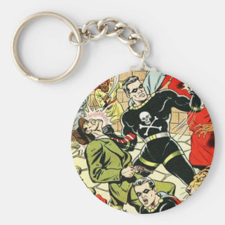 Black Terror Comic Keychain