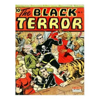 Black Terror Comic Postcard