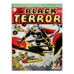 BLACK TERROR Cool Vintage Comic Book Cover Art Poster