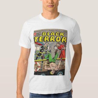 BLACK TERROR Cool Vintage Comic Book Cover Art T Shirt