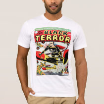 BLACK TERROR Cool Vintage Comic Book Cover Art T-Shirt