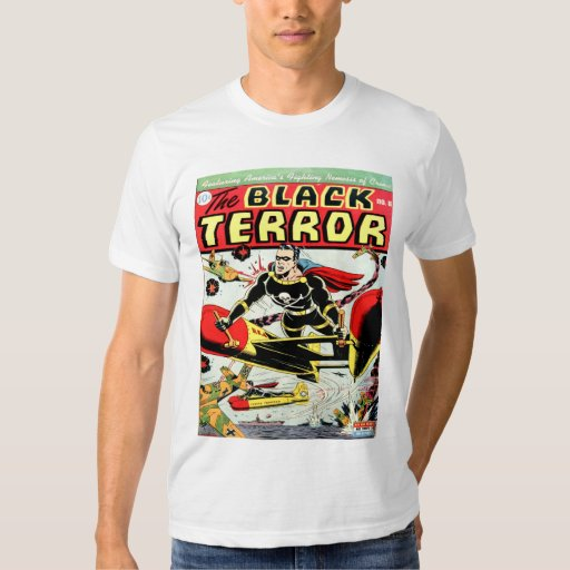 Vintage Book Cover T Shirts ~ Black terror cool vintage comic book cover art tshirts