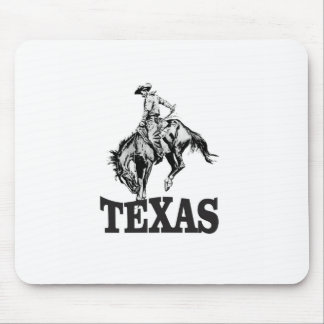 Black Texas Mouse Pad