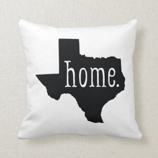 Black Texas State Home and Bandana Pattern Pillow