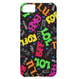 Black Text Art Symbols Abbreviations iPhone 5C Cover