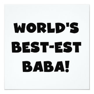 Black Text Best-est Baba T-shirts and Gifts Card