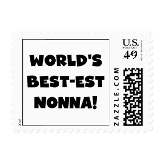 Black Text Best-est Nonna T-shirts and Gifts Stamps