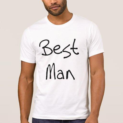 Black Text Best Man T-Shirt