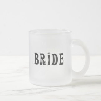 Black Text  Bride Tshirts and Gifts 10 Oz Frosted Glass Coffee Mug