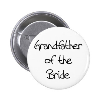 Black Text Grandfather of Bride Pin