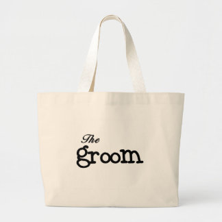 Black Text Groom Bag