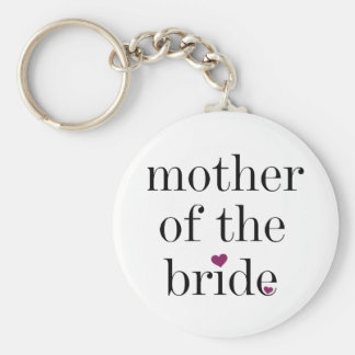 Black Text Mother of the Bride Keychain