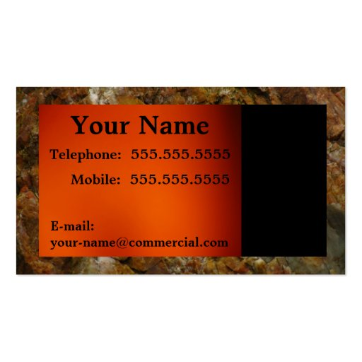 Black Text On An Orange Background Business Card Template