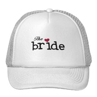 Black Text The Bride Tshirts and Gifts Hat