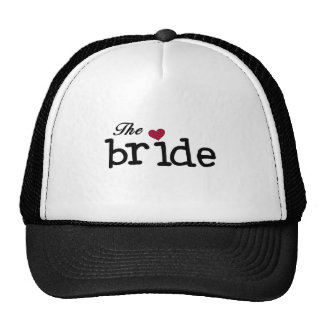 Black Text The Bride Tshirts and Gifts Mesh Hat