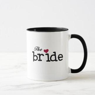 Black Text The Bride Tshirts and Gifts Mug