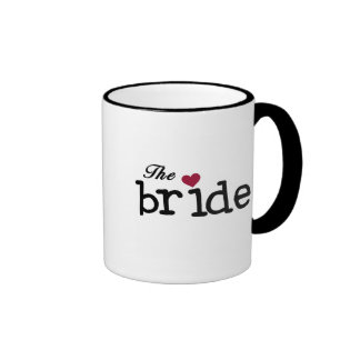 Black Text The Bride Tshirts and Gifts Mugs