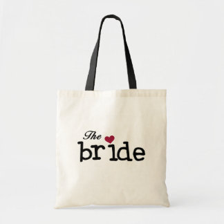 Black Text The Bride Tshirts and Gifts Tote Bag