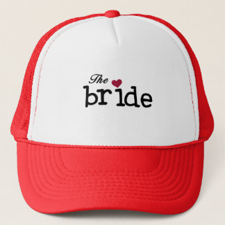 Black Text The Bride Tshirts and Gifts Trucker Hat