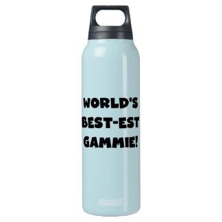 Black Text World's Best-est Gammie Insulated Water Bottle