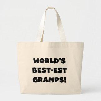 Black Text World's Best-est Gramps Gifts Bag