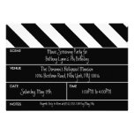 Black That's a Wrap Movie Clapper Birthday Party Invite