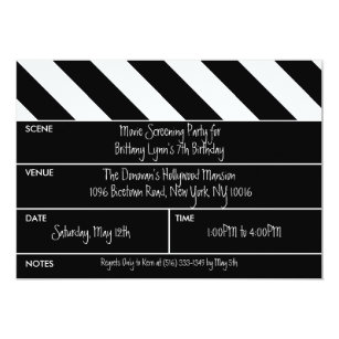 Movie Screening Invitations Zazzle