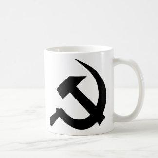 Black Thick Classical Hammer & Sickle Coffee Mug