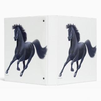 Black Thoroughbred Horse Avery Binder