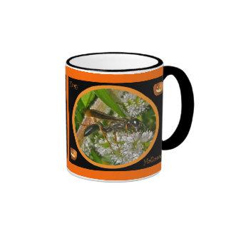 Black Thread-Waist Wasp Halloween Mug