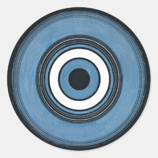 Black Throated Blue Warbler Classic Round Sticker