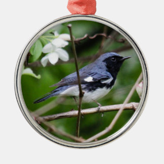 Black-throated Blue Warbler Metal Ornament