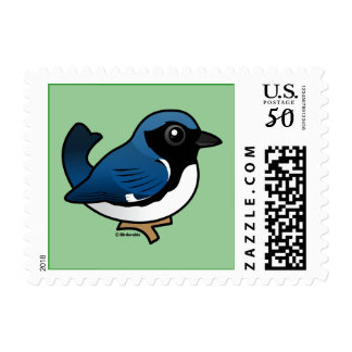 Black-throated Blue Warbler Postage